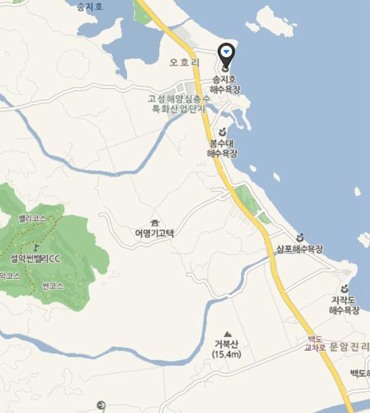 송지호해수욕장 지도